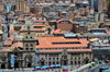 La Paz, Bolivia: downtown - San Francisco church and convent - Plaza San Francisco and Calle Sag�rnaga from above - photo by M.Torres