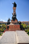 La Paz, Bolivia: monument to the Upper Peru rebel Pedro Domingo Murillo, hanged in this square that bears his name - he also lends his name to Pedro Domingo Murillo Province - sculpture by Ferruccio Cantella - photo by M.Torres