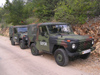 Bosnia / Bosnia / Bosnien - Vehicles of EUFOR peace corps - Bundeswehr - German army jeeps (photo by J.Kaman)