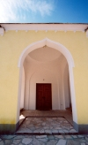 Trebinje (Bosnian Serb Republic / Republika Srpska): mosque entrance - porch (photo by M.Torres)
