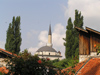 Bosnia-Herzegovina - Sarajevo:  Mosque dome and minaret (photo by J.Kaman)
