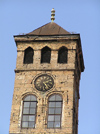Bosnia-Herzegovina - Sarajevo:  Clock tower with Arabic digits  (photo by J.Kaman)