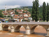 Bosnia-Herzegovina - Sarajevo:  bridge over Miljacka river (photo by J.Kaman)