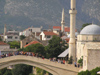 Mostar: mosque and bridge over the Neretva river (photo by J.Kaman)