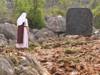 Bosnia-Herzegovina - Medugorje: Nun praying at Podbrdo, the Hill of Apparitions (photo by J.Kaman)
