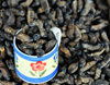 Gaborone, South-East District, Botswana: larval insects - snacks for sale - Botswana, Gaborone - photo by M.Torres
