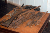 Brazil / Brasil - Porto Acre: memorial room - archeology - rifles from Acre's wars / espingardas - revolta do Acre - revolução acreana (photo by Marta Alves)