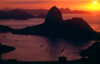 Brazil / Brasil - Rio de Janeiro: Sugar Loaf / P�o de A�ucar and Guanabara bay from Corcovado / p�r-do-sol sobre a ba�a da Guanabara - photo by Lewi Moraes
