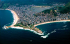 Brazil / Brasil - Rio de Janeiro: Copacabana and Ipanema beach from the air / praias de Copacabana e Ipanema, vista a�rea - photo by Lewi Moraes