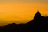Rio de Janeiro, RJ, Brasil / Brazil: Corcovado and Christ at sunset ' silhouette / silhueta do Corcovado e Cristo Redentor ao p�r do sol - photo by L.Moraes