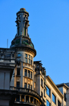 São Paulo, Brazil: Rolim building with bronze covered dome and a lighthouse style  lantern that produces a green light a night - Sé square and Floriano Peixoto street - Catalan modernism office building by architect Hippolyto Gustavo Pujol - photo by M.Torres