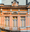 São Paulo, Brazil: elegant 19th century building with ornate balcony railing at Largo de São Bento - photo by M.Torres