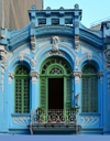 São Paulo, Brazil: elegant 19th century building with ornate blue facade at Largo de São Bento - photo by M.Torres