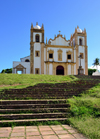 Olinda, Pernambuco, Brazil: Our Lady of Mount Carmel church - the oldest carmelite church in the Americas - built on a hill top - stairs from Praça do Carmo and stone cross - Historic Centre of the Town of Olinda, UNESCO World Heritage site - Igreja Santo Antônio do Carmo - photo by M.Torres