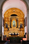 Olinda, Pernambuco, Brazil: gilded baroque altar of Our Lady of Mount Carmel church - the oldest carmelite church in the Americas - Historic Centre of the Town of Olinda, UNESCO World Heritage site - Igreja Santo Antônio do Carmo - photo by M.Torres