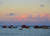 Olinda, Pernambuco, Brazil: fishingboats at sunset - photo by M.Torres