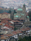 Veliko Tarnovo: St Bogadaritsa church as seen from the Tsarevets Hill  (photo by J.Kaman)