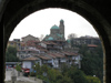 Veliko Tarnovo: St Bogadaritsa church as seen from the Tsarevets Hill II (photo by J.Kaman)