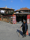 Nesebar / Nesebur: woman with cane (photo by J.Kaman)