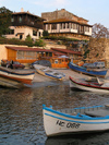 Nesebar: boats and houses (photo by J.Kaman)
