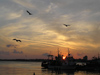 Nesebar: ships in the setting sun  (photo by J.Kaman)