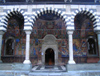 Rila Monastery: main church - porch and entrance (photo by J.Kaman)