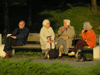 Bulgaria - Sofia: Retired people chatting on a bench in Yuzhen park II (photo by J.Kaman)