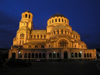 Bulgaria - Sofia: Aleksander Nevski Orthodox Cathedral - nocturnal (photo by J.Kaman)