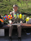 Sofia: Man with pinwheels