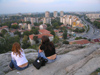 Bulgaria - Plovdiv: view over the modern part of the city - girls siting (photo by J.Kaman)