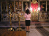 Bulgaria - Sofia: in a church (photo by J.Kaman)