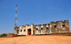 Gitega / Kitega, Burundi: old German fort - used by the German governor of Rwanda-Urundi in the late 19th century, now occupied by the local police - antenna - photo by M.Torres