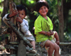 Siem Reap Province, Cambodia: smiling children - photo by E.Petitalot