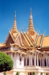 Cambodia / Cambodje - Phnom Penh: Royal Palace - Throne hall - Palais royal (photo by M.Torres)
