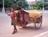 Cambodia / Cambodje - Phnom Penh: the weight of childhood - Sothearos avenue (photo by M.Torres)