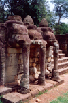 Angkor, Cambodia / Cambodge: Phimeankas - terrace of the elephants - Angkor Thom - photo by Miguel Torres