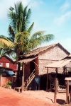 Cambodia / Cambodge - Cambodia - Siem Reap: thatched house (photo by M.Torres)