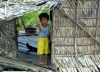 Cambodia / Cambodge - Chong Khneas floating village: young child (photo by R.Eime)
