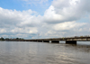 Cameroon, Douala: Bonaberi Bridge - concrete beam structure over the Wouri river estuary - photo by M.Torres