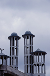 Cameroon, Douala: mosque with hollow minarets - photo by M.Torres