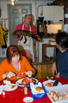 Canada 10 Preparing and eating lobster in the historic fishing village of Peggy's Cove, Nova Scotia, Canada - photo by D.Smith