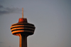 Niagara Falls, Ontario, Canada: Skylon Tower at sunset - Googie architecture - Bregman and Hamann Architects - photo by M.Torres