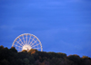 Niagara Falls, Ontario, Canada: Niagara SkyWheel on Clifton Hill - Ferris wheel and forest - photo by M.Torres