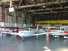 Welland, Ontario, Canada / Kanada: light aircraft in an hangar - Piper PA-28-151 Cherokee Warrior - C-GGZW - Welland Aero Center - civil aviation - photo by R.Grove
