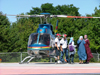 Niagara Falls, Ontario, Canada / Kanada: veiled women and Niagara Helicopters Bell 407 - helicopter rides around the Niagara falls - photo by R.Grove