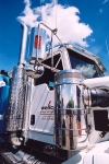 Canada / Kanada - Calgary, Alberta: Kenworth truck - detail - photo by M.Torres