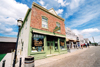 Canada / Kanada - Calgary, Alberta: Heritage Park - Alberta bakery and other shops on main street - photo by M.Torres