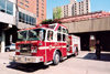 Canada / Kanada - Calgary, Alberta: fire engine leaving the Fire Department - Macloed Trail - photo by M.Torres