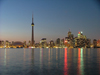 Toronto, Ontario, Canada / Kanada: skyline - dusk - photo by R.Grove