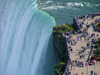 Niagara Falls, Ontario, Canada / Kanada: Horseshoe Falls and Table Rock from Skylon tower - photo by R.Grove